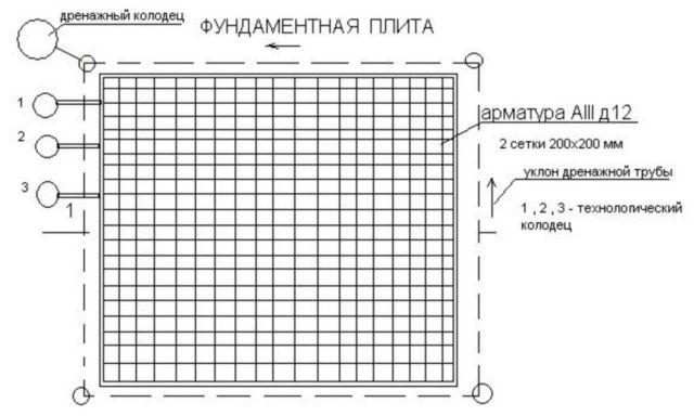 Схема фундамента монолитная плита фото 430